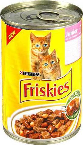 Friskies Консервы с индейкой, курицей и морковью для котят 400 г