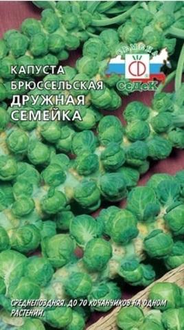 Семена Капуста брюссельская Дружная семейка