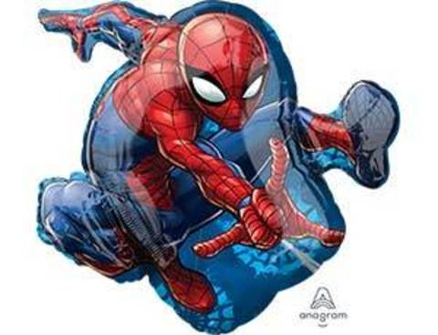 Фольгированный шар Человек паук в прыжке