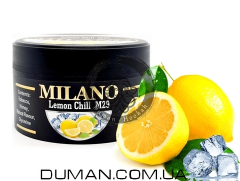 Табак Milano M29 Lemon Chill (Милано Лед Лимон)
