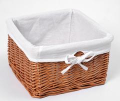 Плетеная корзина для ванной WasserKRAFT Dinkel WB-580-S
