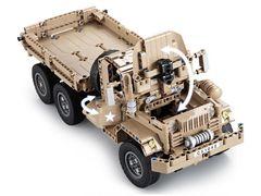Радиоуправляемый конструктор CADA deTech военный грузовик (545 деталей)