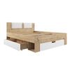 Кровать Марли МКР 1600.1 (дуб бунратти/белый глянец), ДСВ Мебель