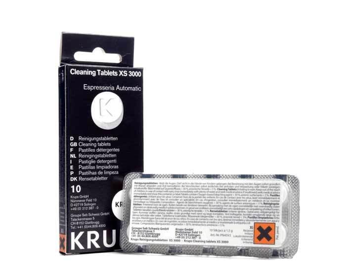 Таблетки для чистки гидросистемы Krups XS 3000, 10 шт