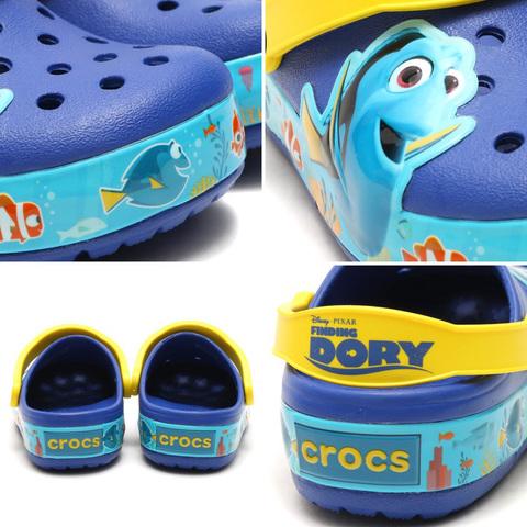 Сабо Crocs clogk Croslights Dory светящиеся рыбка Дори