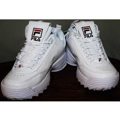 Белые кроссовки женские Fila Disruptor 2 all white RN-91175