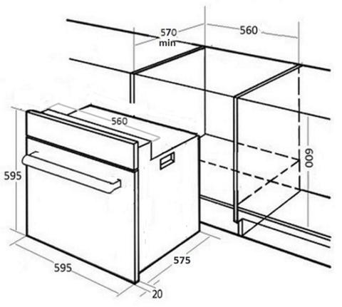 Духовой шкаф MONSHER MOE 6291 B