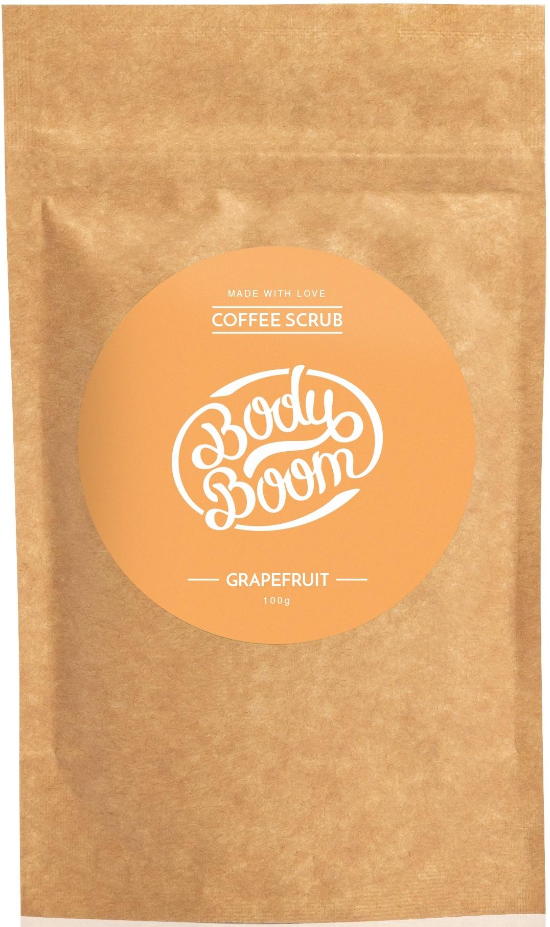 BODY BOOM Кофейный скраб для тела Grapefruitl 100г (*8)