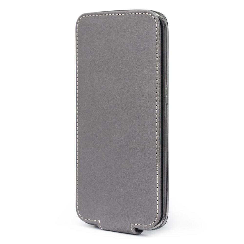 Чехол для Samsung Galaxy S6 edge из натуральной кожи теленка, серого цвета