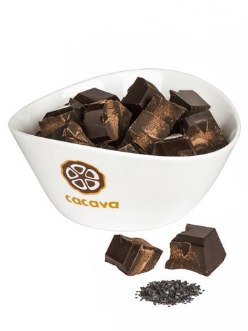 Тёмный шоколад с чёрной солью 70 % какао (Эквадор), внешний вид