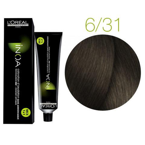 L'Oreal Professionnel INOA 6.31 (Темный блондин золотисто-пепельный) - Краска для волос