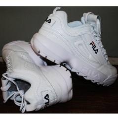 Кроссовки белые женские Fila Disruptor 2 all white RN-91175