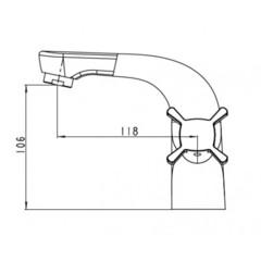 Смеситель KAISER Cuatro 58011 для раковины схема