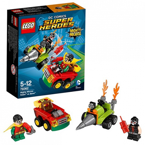 LEGO Super Heroes: Робин против Бэйна 76062 — Mighty Micros: Robin vs. Bane — Лего Супергерои ДиСи