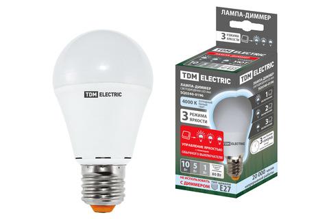 Лампа светодиодная А60 - 10 Вт-230 В -4000 К–E27