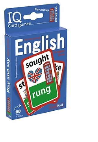 IQ Card games. English. Irregular verbs. Hard Level (100 карт)