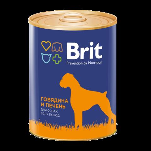 Brit Premium Red Meat & Liver Консервы для собак Говядина и Печень