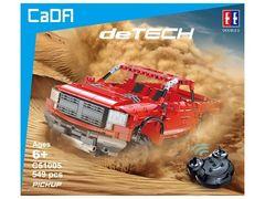 Радиоуправляемый конструктор CADA deTech красный пикап (549 деталей)