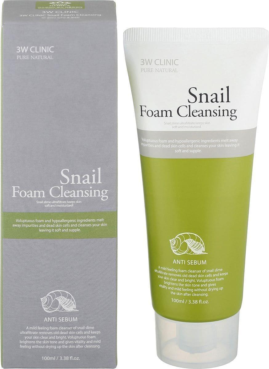 Очищающая пенка для лица - 3W Clinic Snail Foam Cleansing