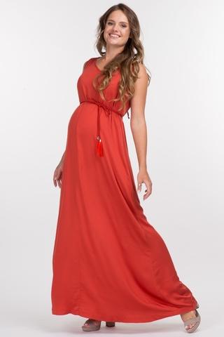 Платье для беременных 10371 терракот
