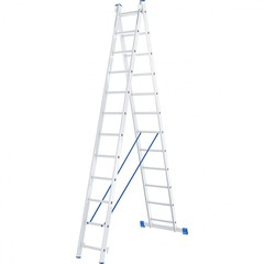 Лестница, 2 х 12 ступеней, алюминиевая, двухсекционная, Россия, Сибртех