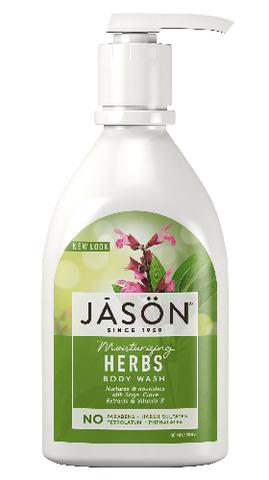 Увлажняющий гель для душа с травами, Jason