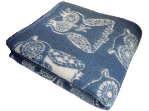 Одеяло Совы из новозеландской шерсти KLIPPAN SAULE Латвия