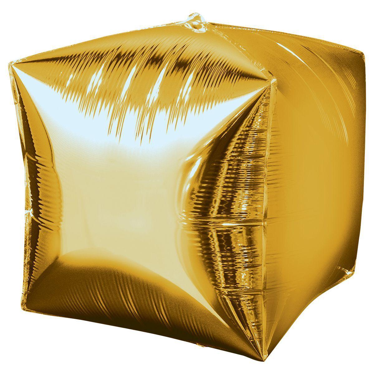Шар «Куб» Золото 40 см