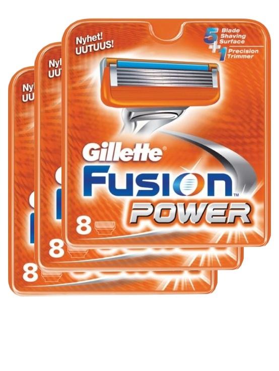 Gillette Fusion Power комплект (3х8) 24шт. (Цена за 1 пачку 1363р.)