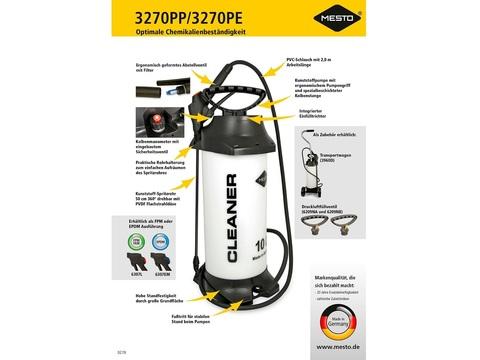 MESTO Распылитель CLEANER 3270 РP, 10л химически стойкий