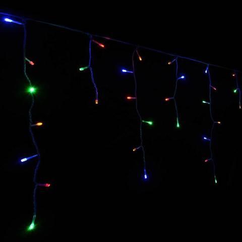 LED RGB гирлянда светодиодная бахрома сталактиты занавес фасадная прозрачный силиконовый провод лед купить смотреть