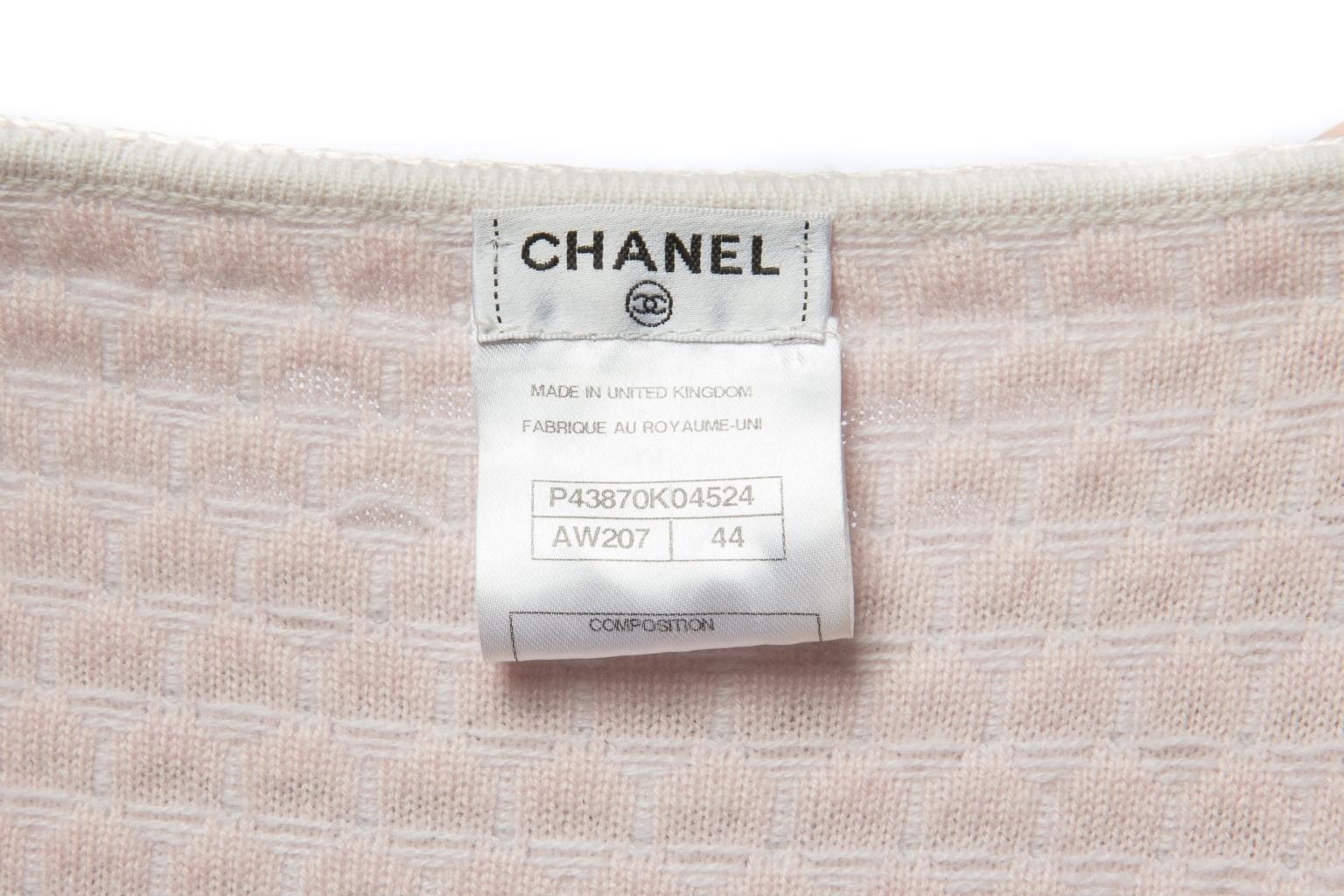 Нежный трикотажный кардиган из кашемира от Chanel, 44 размер.