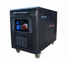 Готовый комплект аварийного питания на 10 кВт бензиновый генератор ZM 12500 SE-3 (380В, трёхфазный)в кожухе с АВР (блоком автоматического ввода резерва)