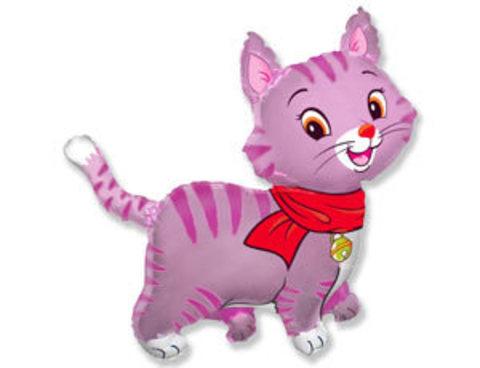 Фольгированный шар Котенок розовый