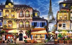Картина раскраска по номерам 40x50 сердце парижа