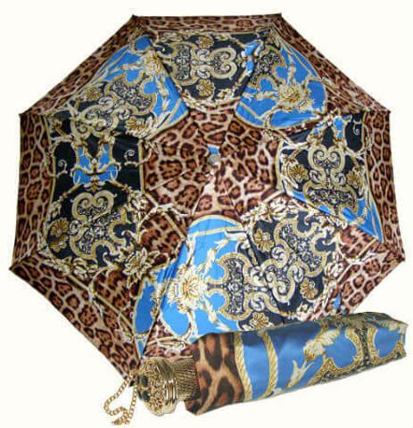 Зонт женский складной Pasotti Leopardo Rococo