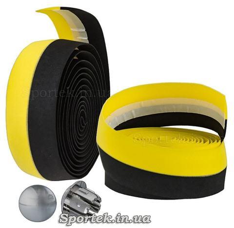 Обмотка на кермо з чорно-жовтою поліуретанової стрічки