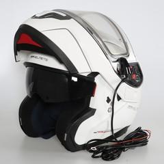Шлем-модуляр - MT Atom White - с подогревом стекла