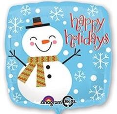 """Квадрат """"Снеговик Happy Holidays"""""""
