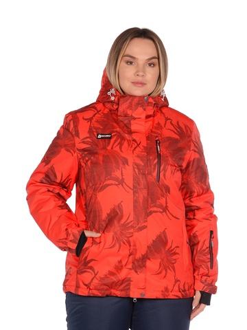 Куртка горнолыжная женская BETEBEILE красного цвета.