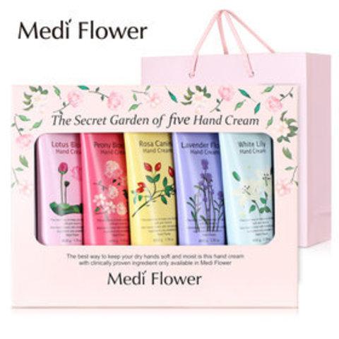 Подарочный набор из пяти ароматизированных кремов для рук Medi Flower