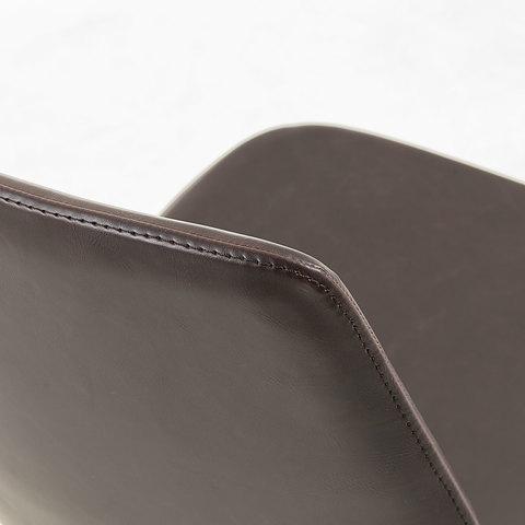 Zast Стул металлический черный PU коричневый