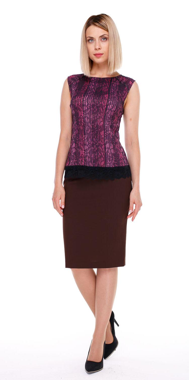 Юбка Б035-115 - Прямая классическая юбка прекрасно сочетается с любым верхом, подойдет как для офиса так и для повседневной жизни.