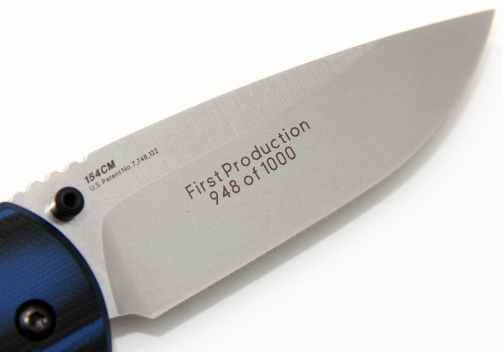 Нож Benchmade 665 APB Assist 154CM черно-синяя G10 - фотография