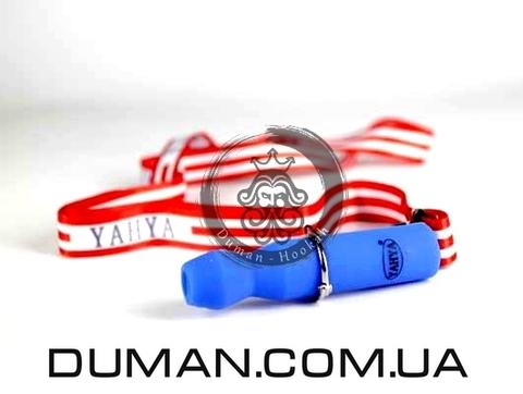 Персональный мундштук Yahya Cиликоновый Soft-Touch для кальяна |Синий