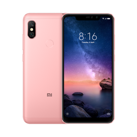 Смартфон Xiaomi Redmi Note 6 Pro 4GB/64GB (Rose Gold Золотой) Global Version