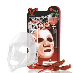 Маска для лица на тканевой основе с экстрактом красного женьшеня Elizavecca