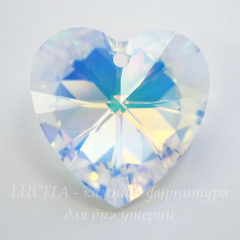 6228 Подвеска Сваровски Сердечко Crystal AB (40 мм) ()