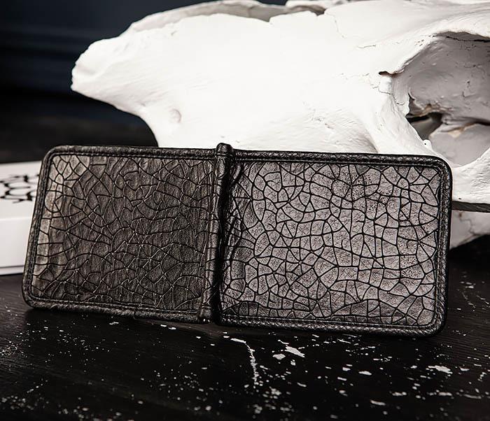 WL322-4 Зажим для купюр из натуральной кожи «Onyx» фото 04