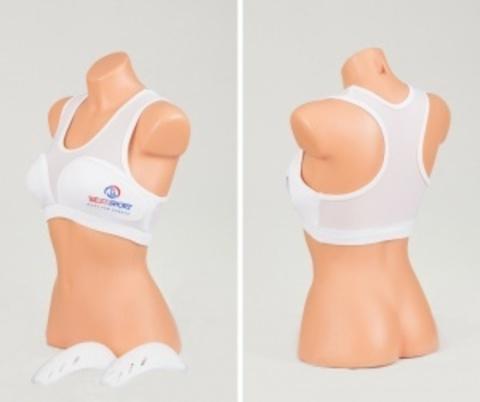 Защита груди женская BestSport. Топ с пластиковыми вставками
